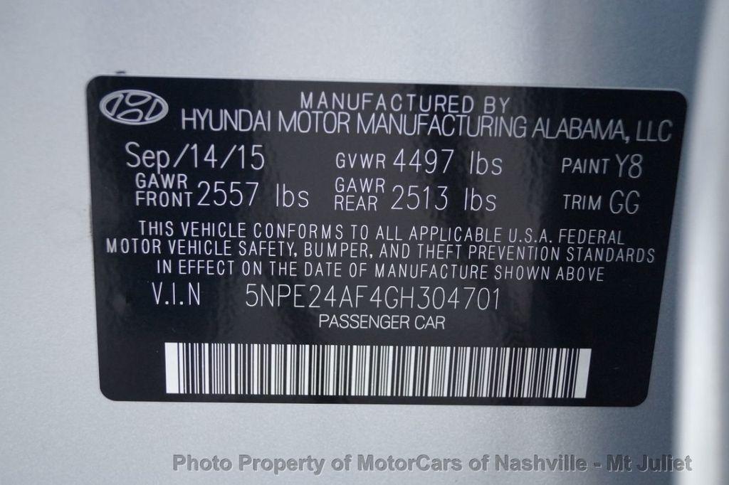 2016 Hyundai Sonata 4dr Sedan 2.4L SE - 18398457 - 45