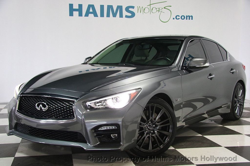 2016 used infiniti q50 4dr sedan red sport 400 rwd at haims motors hollywood serving fort. Black Bedroom Furniture Sets. Home Design Ideas