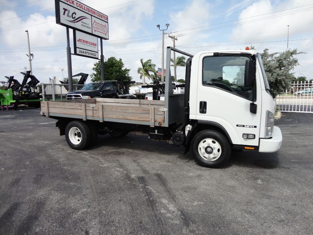 2016 Isuzu NPR 12FT STEEL FLATBED - 17720211 - 10