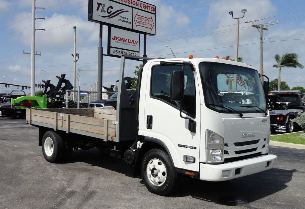 2016 Isuzu NPR 12FT STEEL FLATBED - 17720211 - 1