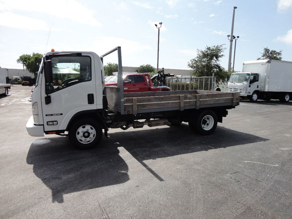 2016 Isuzu NPR 12FT STEEL FLATBED - 17720211 - 4
