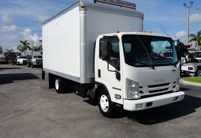 2016 Isuzu NPR HD 16FT DRY BOX TRUCK . TUCK UNDER LIFTGATE CARGO TRUCK