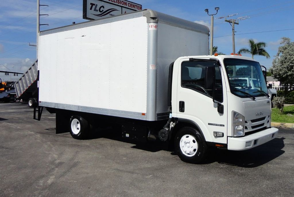 2016 Isuzu NPR HD 16FT DRY BOX TRUCK . TUCK UNDER LIFTGATE CARGO TRUCK - 17788207 - 1