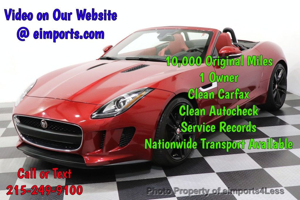 2016 Jaguar F-TYPE CERTIFIED F-TYPE 20s Meridian Audio NAVI - 18499010 - 0
