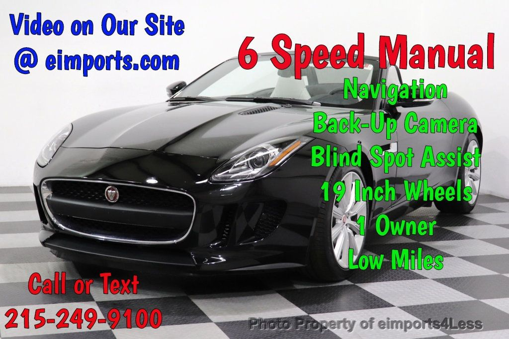 2016 Jaguar F-TYPE CERTIFIED F-TYPE 6 SPEED NAVIGATION CAMERA HEATED SEATS - 18678050 - 0