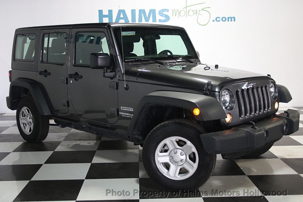 2016 used jeep wrangler unlimited 4wd 4dr sport at haims motors serving fort lauderdale. Black Bedroom Furniture Sets. Home Design Ideas