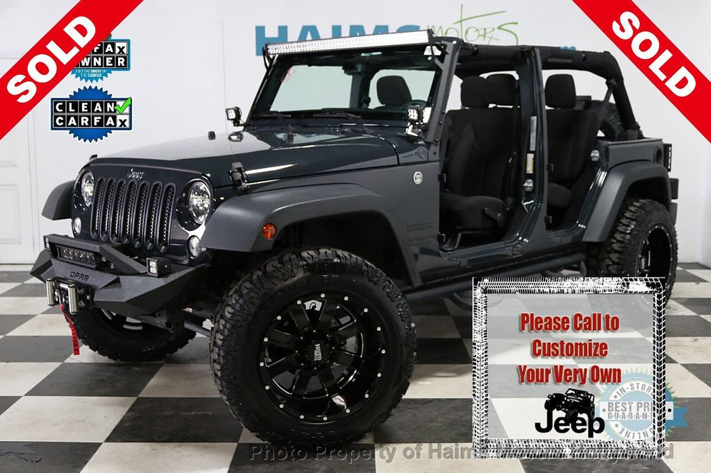 2016 Jeep Wrangler Unlimited 4WD 4dr Sport - 18032893 - 0