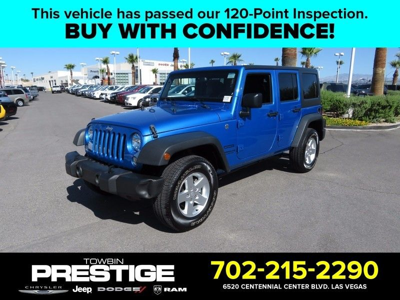 2016 Jeep Wrangler Unlimited 4wd 4dr Sport 16841877 0