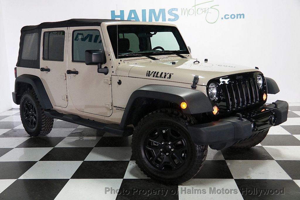 2016 Jeep Wrangler Unlimited 4WD 4dr Willys Wheeler - 16917020 - 3