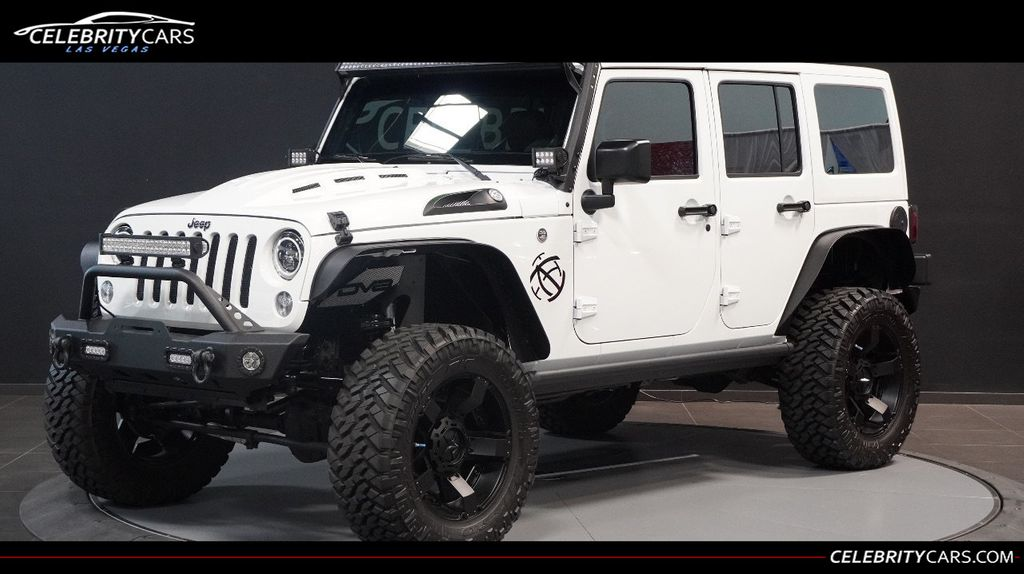 All White Jeep Wrangler >> 2016 Used Jeep Wrangler Unlimited Custom At Celebrity Cars Las Vegas Nv Iid 19293931