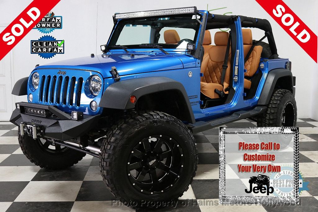 2016 Jeep Wrangler Unlimited CUSTOM JEEP - 18032912 - 0