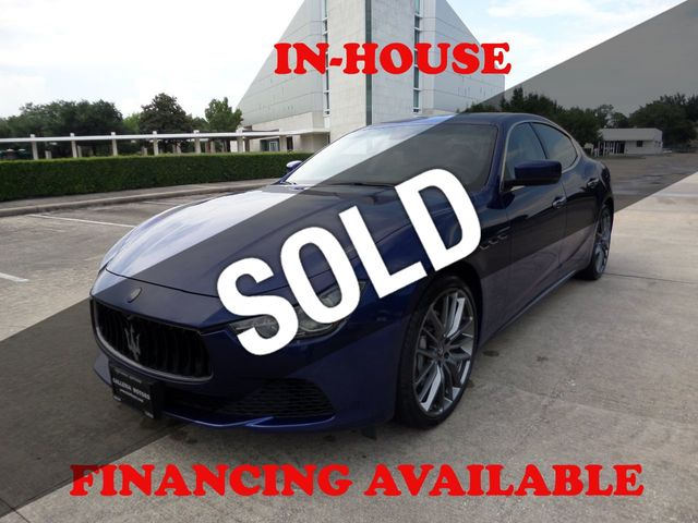 2016 Maserati Ghibli 1 Owner, 51k, Sunroof, Navigation, Security System, Extra Clean
