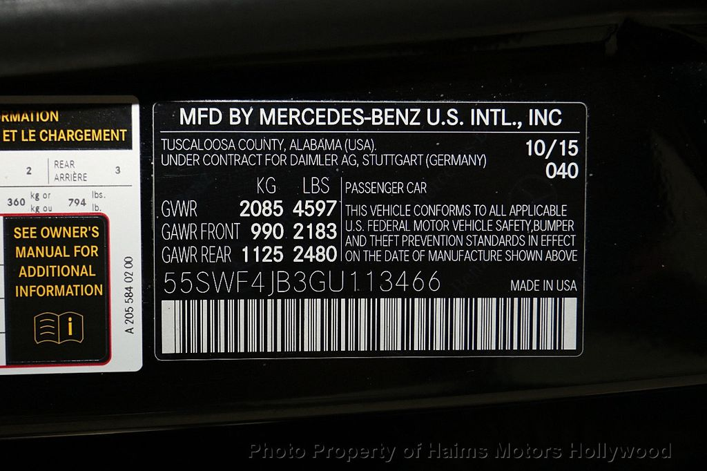 2016 Mercedes-Benz C-Class 4dr Sedan C 300 RWD - 16378396 - 31