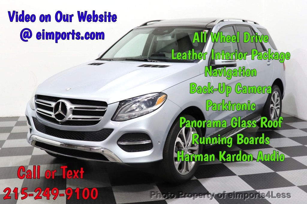2016 Mercedes-Benz GLE CERTIFIED GLE350 4MATIC AWD HK PANO CAMERA NAVI - 18499013 - 0