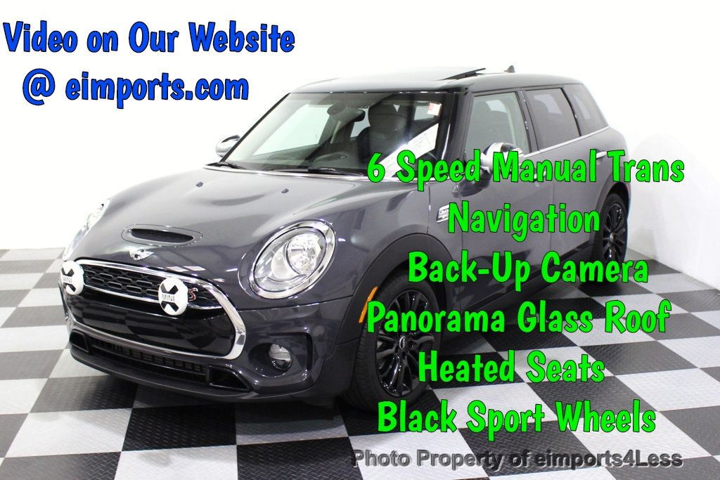 2016 MINI Cooper S Clubman CERTIFIED CLUBMAN S 6 SPEED TECH CAMERA NAVI - 18138637 - 0