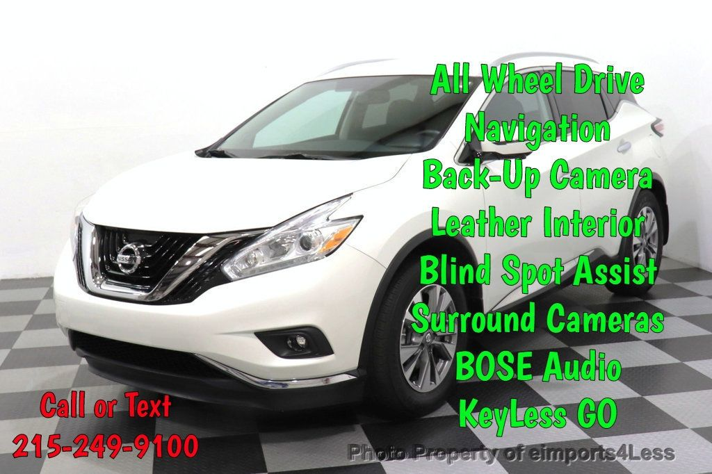 2016 Nissan Murano CERTIFIED MURANO SL AWD NAVIGATION CAMERA BLIS BOSE - 18561288 - 0