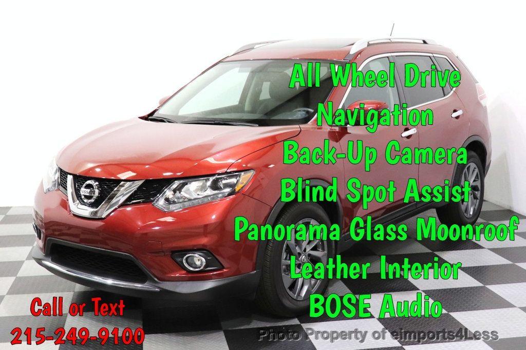 2016 Nissan Rogue CERTIFIED ROGUE SL AWD NAV CAM BLIS BOSE PANO - 18561287 - 0
