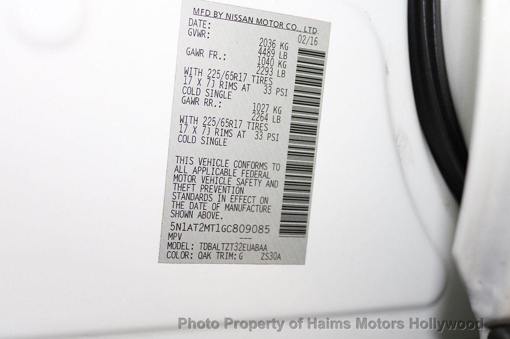 2016 Nissan Rogue FWD 4dr SV - 18584884 - 36