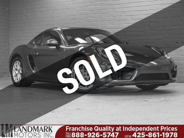 2016 Used Porsche Cayman 2dr Coupe at Landmark Motors Inc Serving Seattle,  Bellevue, WA, IID 19293974