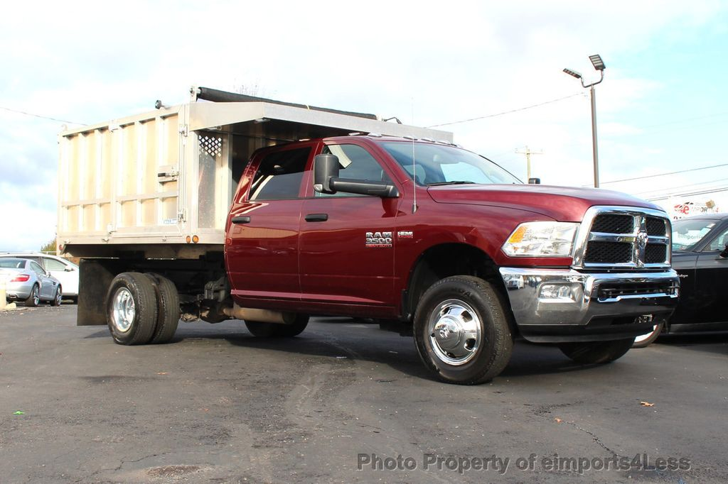 2016 Ram 3500 Crew Dump Body CERTIFIED RAM 3500 TRADESMAN HEMI 4X4 CREW CAB DUMP BED DUALLY - 18302571 - 37
