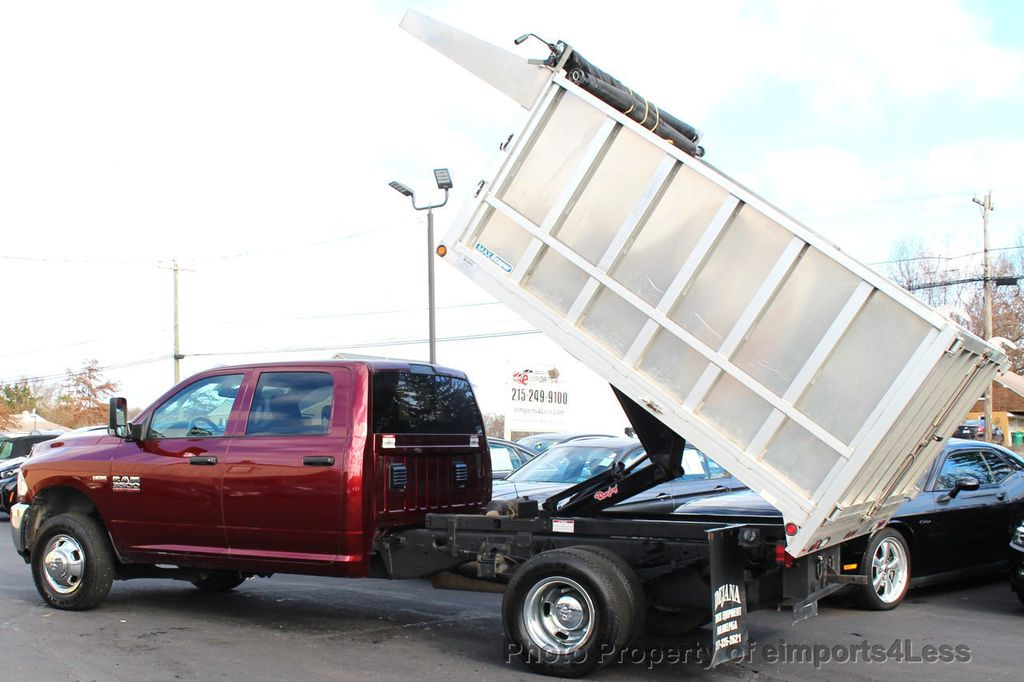 2016 Ram 3500 Crew Dump Body CERTIFIED RAM 3500 TRADESMAN HEMI 4X4 CREW CAB DUMP BED DUALLY - 18302571 - 39