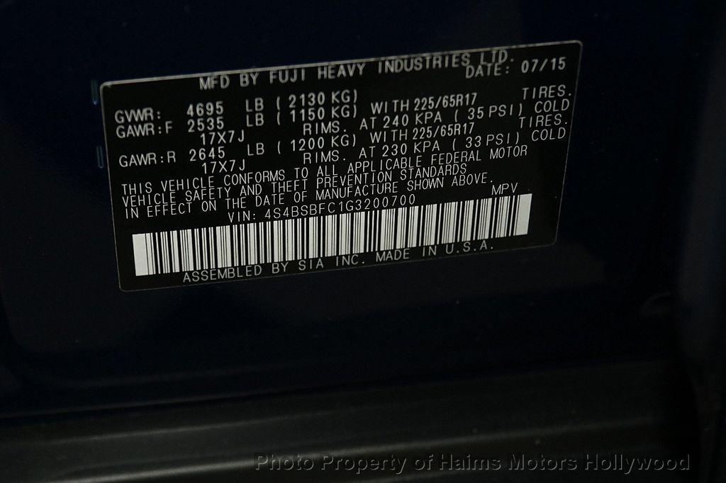 2016 Subaru Outback 4dr Wagon H4 Automatic 2.5i Premium - 17012152 - 35