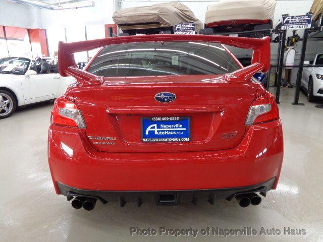 Carbon Fiber For SUBARU WRX STI 4th Sedan Sport Look Trunk Spoiler 16 18