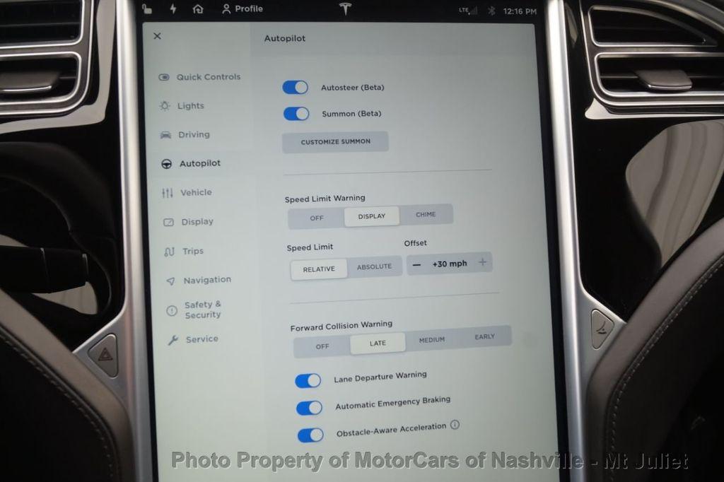 2016 Tesla Model S 2016.5 4dr Sedan RWD 70 kWh Battery - 18614617 - 38