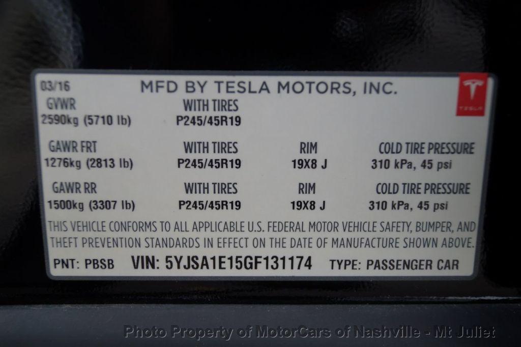 2016 Tesla Model S 2016.5 4dr Sedan RWD 70 kWh Battery - 18614617 - 51