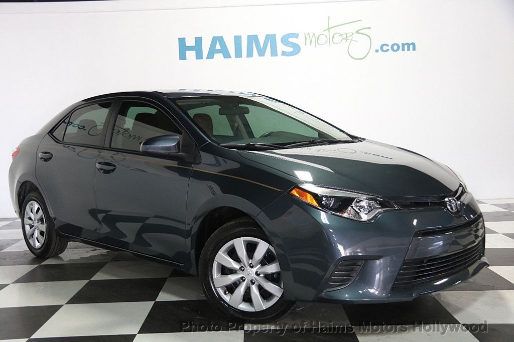 2016 used toyota corolla 4dr sedan cvt le at haims motors serving fort lauderdale hollywood. Black Bedroom Furniture Sets. Home Design Ideas