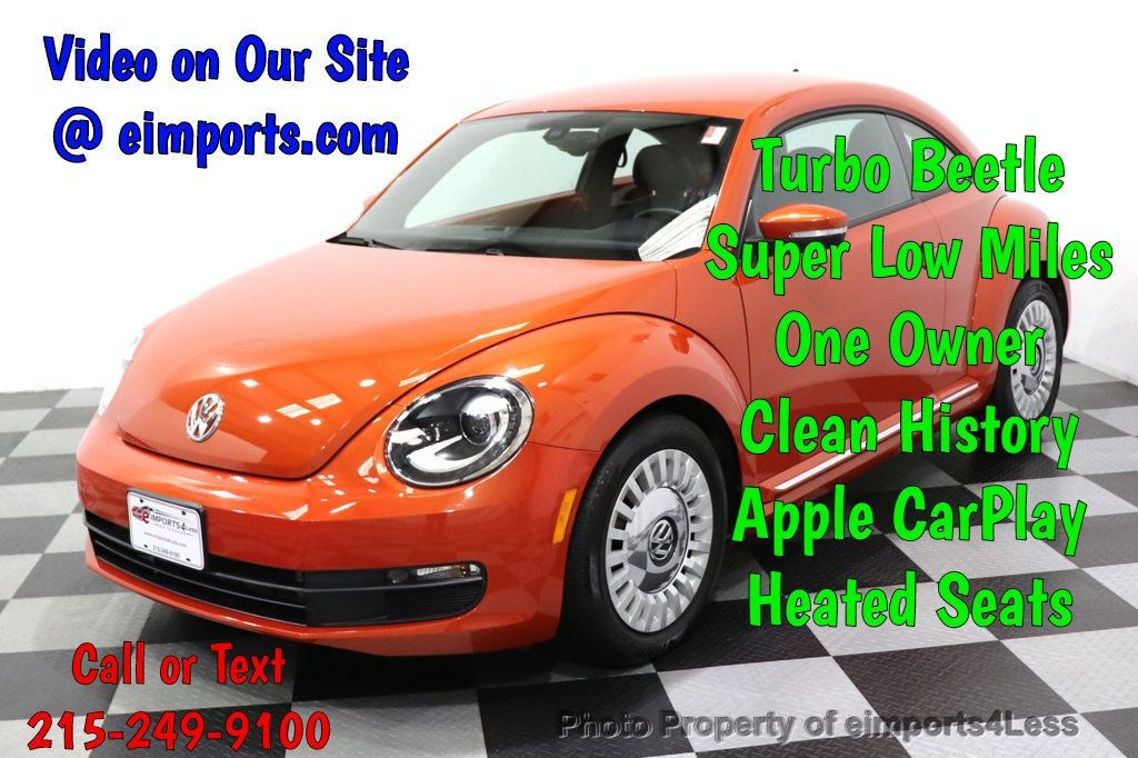 2016 Volkswagen Beetle Coupe CERTIFIED BEETLE TURBO 1.8T SE CAM HEATED SEATS - 18587079 - 0