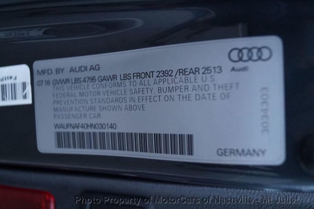 2017 Audi A4 2.0 TFSI Automatic Prestige quattro AWD - 18203170 - 52