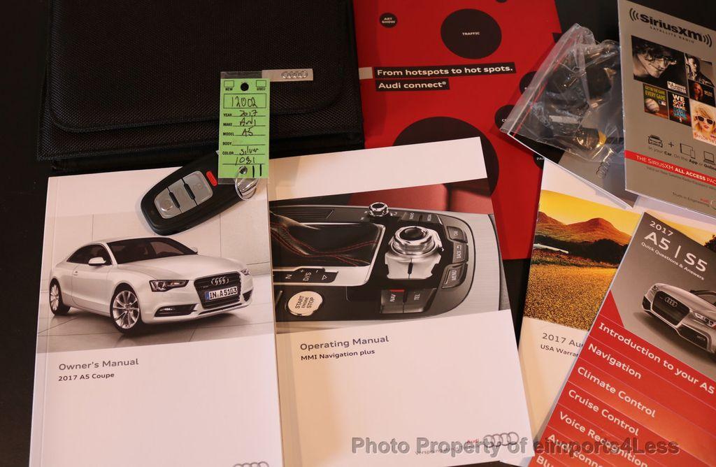 2017 Audi A5 Coupe CERTIFIED A5 2.0T Quattro Sport AWD TECH CAMERA NAVI - 17397401 - 38