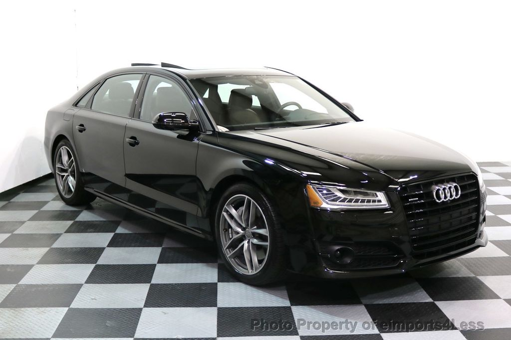 2017 Audi A8 L CERTIFIED A8L 4.0T SPORT Quattro AWD BLACK OPTIC - 17334099 - 52