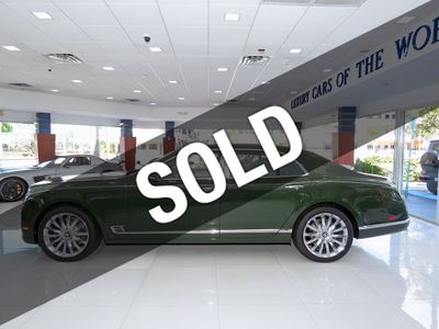 2017 Bentley Mulsanne Mulliner Sedan with Premiere Specification