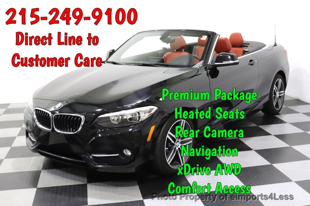 2017 BMW 2 Series CERTIFIED 230i xDrive PREMIUM AWD CONVERTIBLE CORAL RED - 18467692 - 0