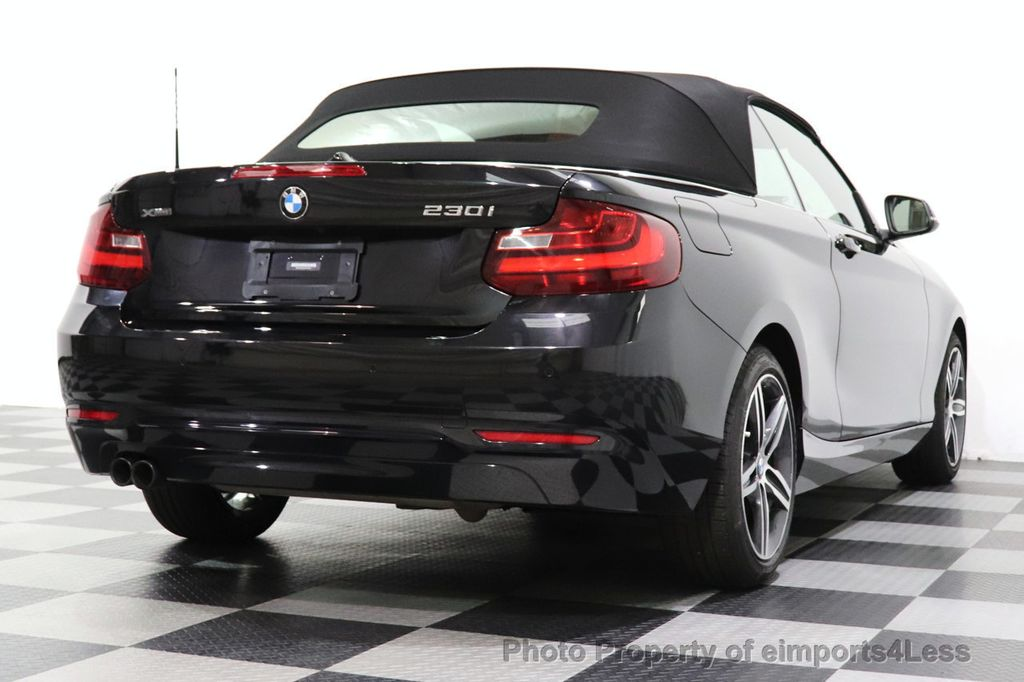 2017 BMW 2 Series CERTIFIED 230i xDrive PREMIUM AWD CONVERTIBLE CORAL RED - 18467692 - 37