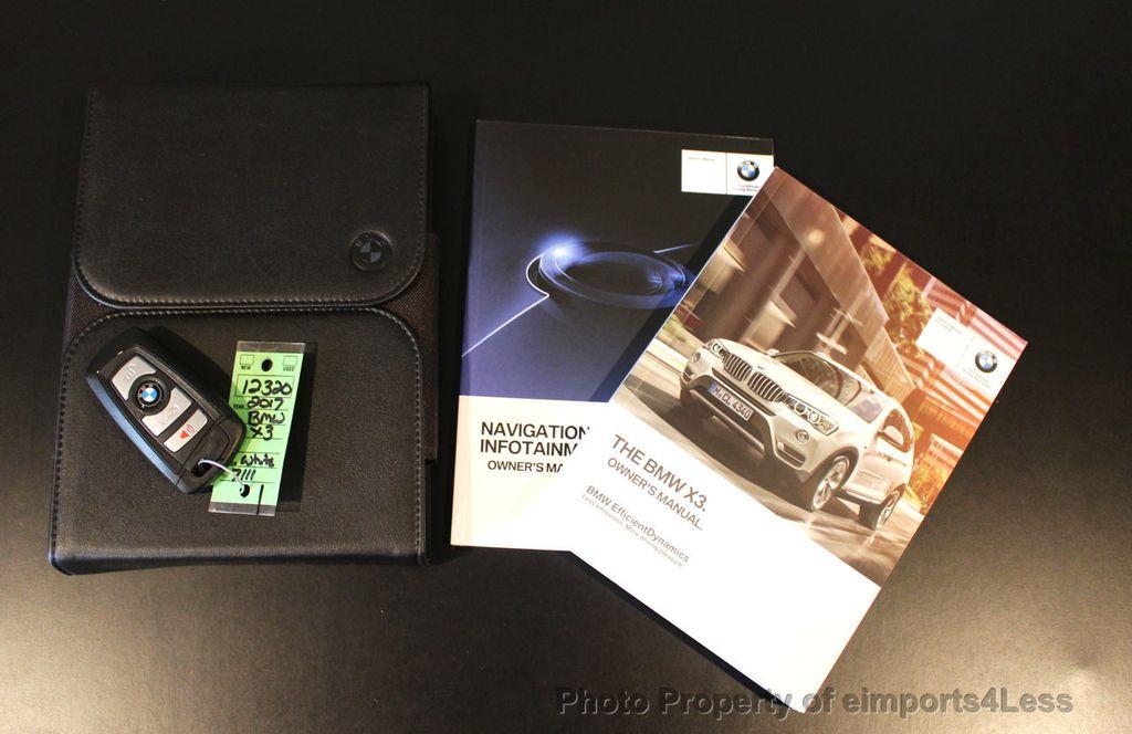 2017 BMW X3 CERTIFIED X3 xDRIVE28i AWD CAMERA PANO NAVI - 18104444 - 41