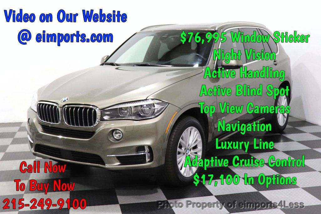 2017 BMW X5 CERTIFIED X5 xDrive35i AWD BLIND SPOT Night Vision NAV - 18518144 - 0