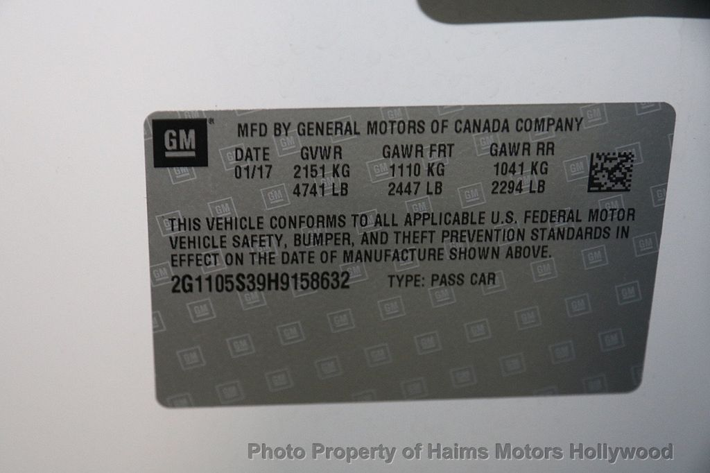 2017 Chevrolet Impala 4dr Sedan LT w/1LT - 16751497 - 31