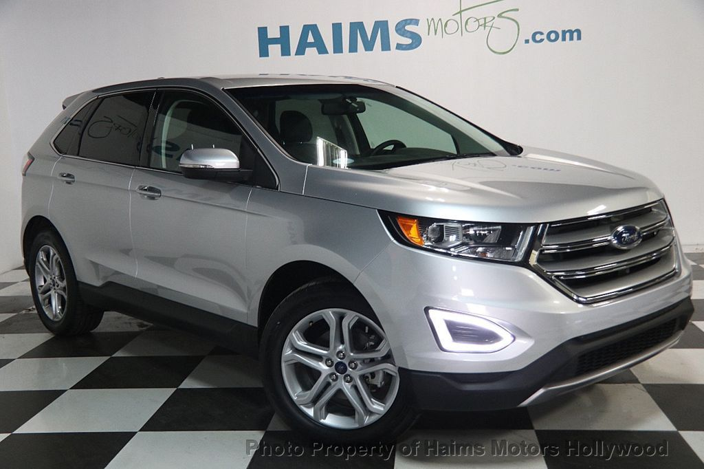2017 used ford edge titanium fwd at haims motors ft. Black Bedroom Furniture Sets. Home Design Ideas