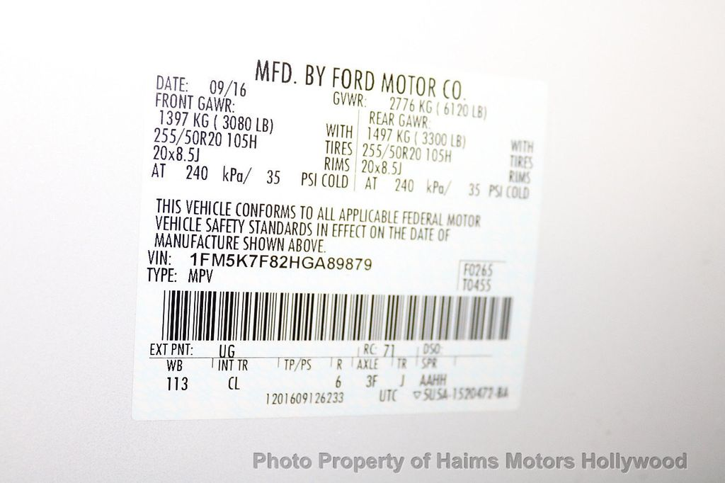2017 Ford Explorer Limited FWD - 18156034 - 38