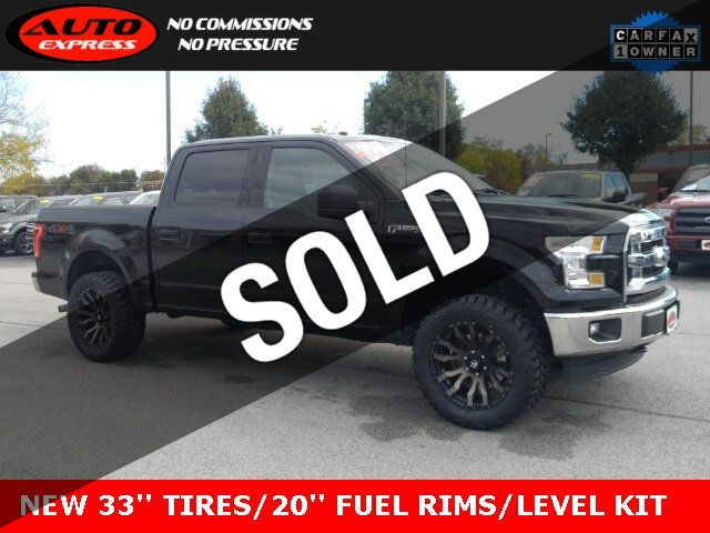 2017 Used Ford F 150 Xlt Crew Cab 4x4 20 Fuel Blitz D674 Alloys New 33 Mud Tires At Auto Express Lafayette In Iid 19434316