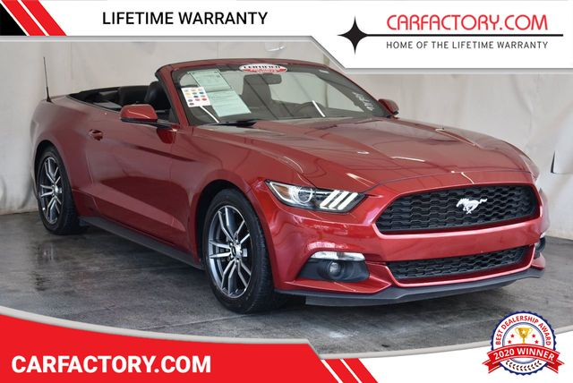 2017 Used Ford Mustang Ecoboost Premium Convertible At Car Factory Outlet Serving Miami Dade Broward Palm Beach Collier And Monroe County Fl Iid