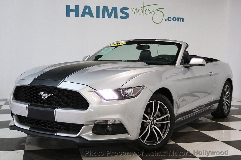 Ford Dealership Fort Lauderdale >> 2017 Used Ford Mustang EcoBoost Premium Convertible at Haims Motors Serving Fort Lauderdale ...