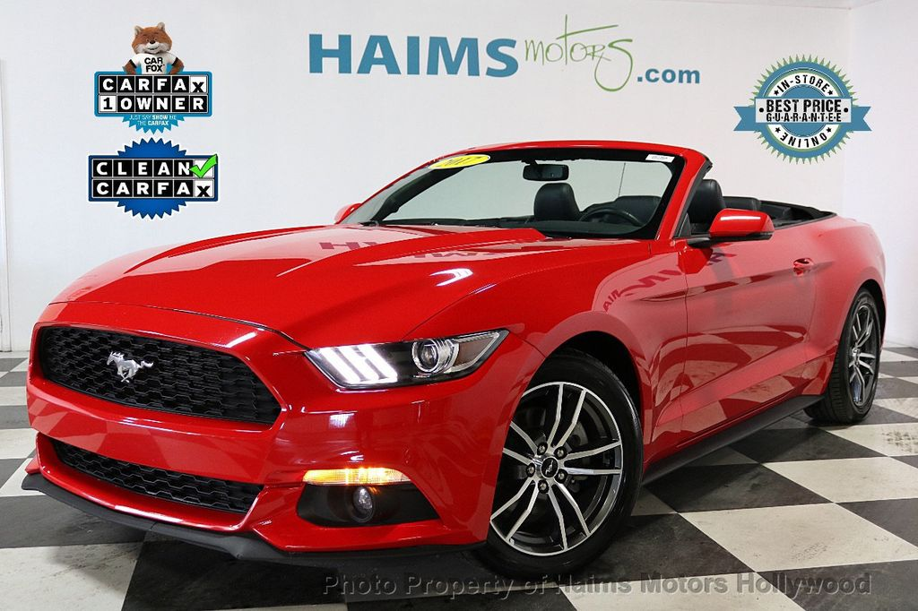 2017 Ford Mustang EcoBoost Premium Convertible - 18188457 - 0