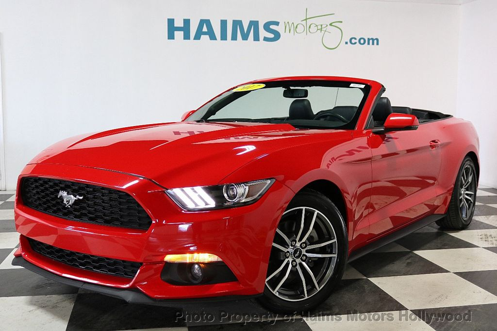 2017 Ford Mustang EcoBoost Premium Convertible - 18188457 - 1