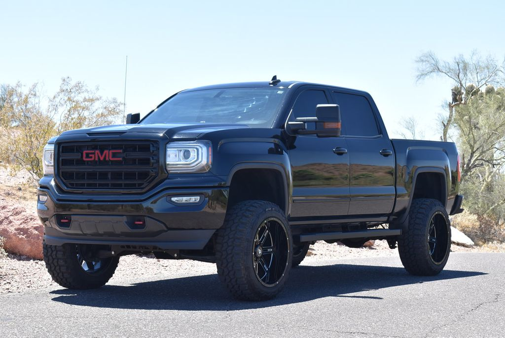 gmc sierra 1500 elevation lifted low pkg miles truck
