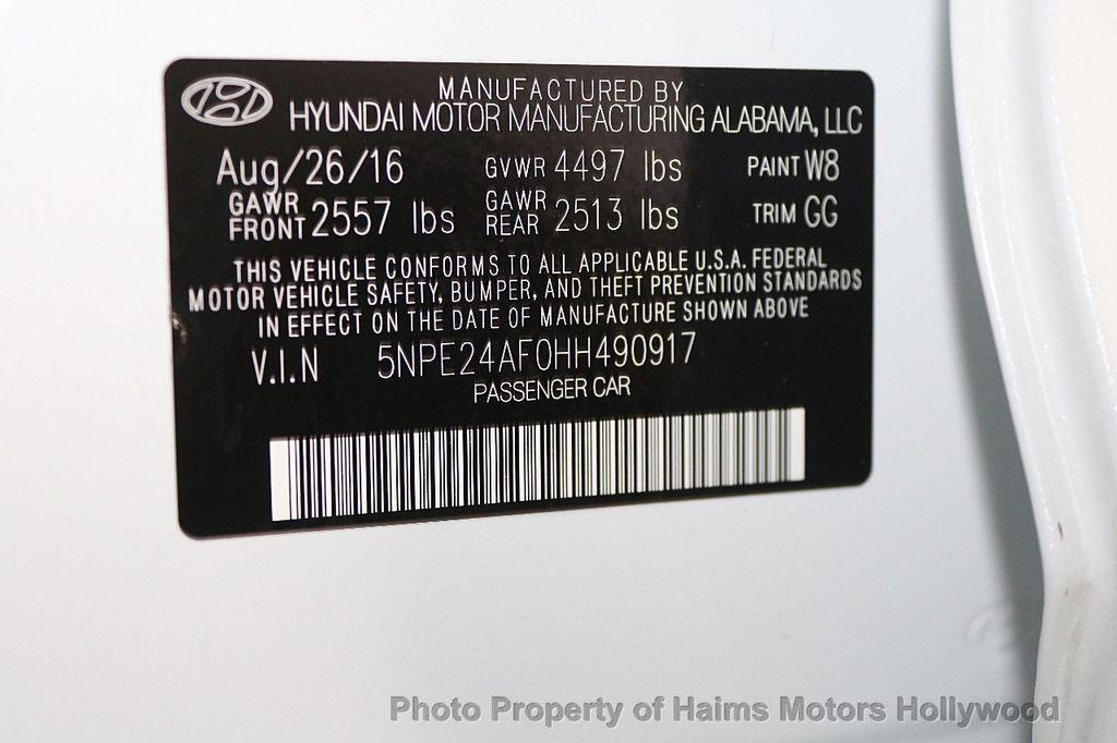 2017 Hyundai Sonata SE 2.4L - 17595324 - 31