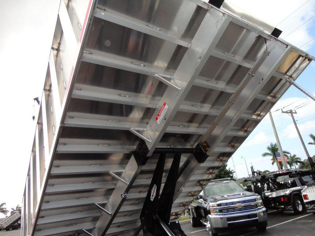2017 Isuzu NPR HD CREW CAB..14FT ALUMINUM LANDSCAPE DUMP TRUCK - 17284451 - 23